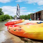 kayak optimo nautilclub sur le lac de Biscarrosse