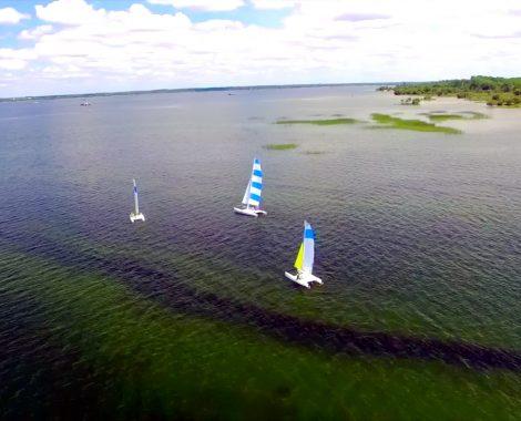 cata vu drone lac de Biscarrosse