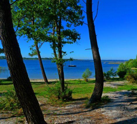 Ecole de voile sur le lac de Biscarrosse