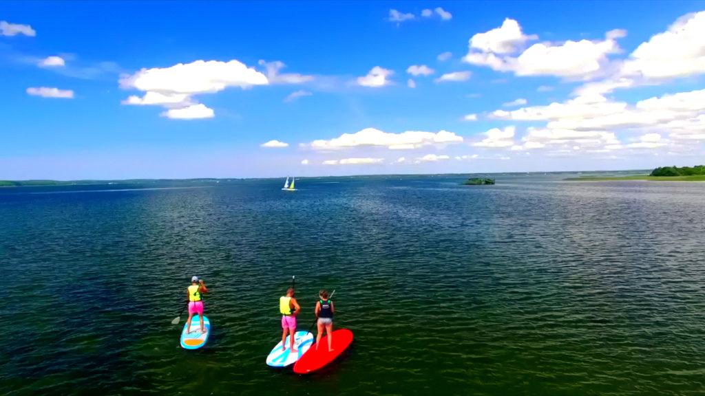 initiation et location de paddle sur le lac de Biscarrosse Parentis