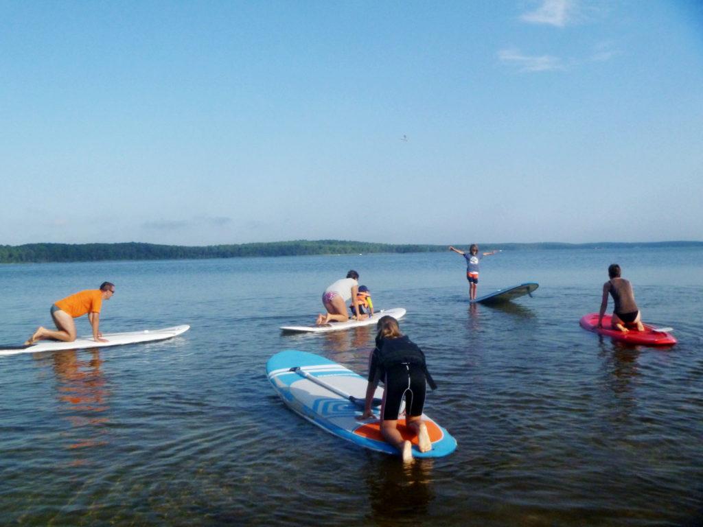 Départ de cours de paddle